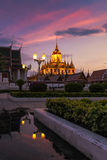 Wat Ratchanatdaram a Beautiful temple at twilight time Stock Photography