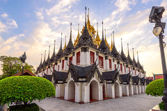Wat Ratchanatdaram(Loha Prasat) temple, Bangkok, Thailand Royalty Free Stock Image