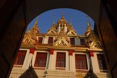 Wat Ratchanatdaramn,曼谷,泰国 免版税库存图片