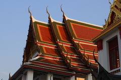 Wat Ratchanatdaramn,曼谷,泰国 免版税图库摄影