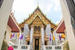 Wat Ratchapradit Sathitmahasimaram Rajaworavihara (Tajlandzka świątynia) obraz royalty free