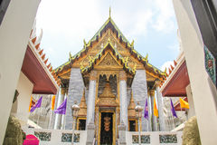Wat Ratchapradit Sathitmahasimaram Rajaworavihara (templo tailandés) Imagen de archivo libre de regalías