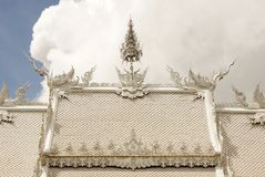 Wat Rhong Khun with Thai Stucco Royalty Free Stock Photography
