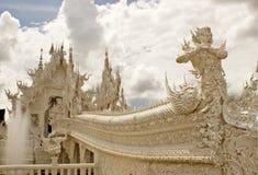 Wat Rhong Khun with Thai Stucco Royalty Free Stock Photo