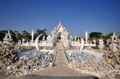 Wat rong khun著名寺庙 免版税库存照片