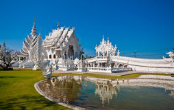 Wat Rong Khun, Chiang Rai省,泰国 库存图片