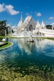 Wat Rong Khun (белый висок), Chiang Rai, Таиланд стоковые фото