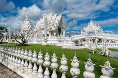 Wat Rong Khun (белый висок), Chiang Rai, Таиланд стоковое изображение