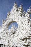 Wat Rong Khun. Architectural detail of Wat Rong Khun temple in Chiang Rai province, Thailand Royalty Free Stock Images