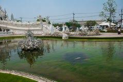 Wat Rong Khun, aka il tempio bianco Chiang Rai, Tailandia immagine stock