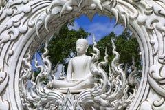Wat Rong Khun, Architectural Details, Buddha. Stock Image