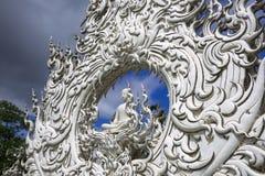 Wat Rong Khun, Architectural Details. Sitting Buddha. Stock Images