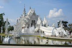 Wat Rong Khun Biała świątynia Chiang Raja na Tajlandia Zdjęcia Royalty Free