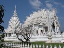 Wat Rong Khun - Biały Świątynny Chiang Raja boczny widok Fotografia Royalty Free