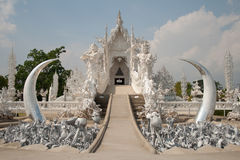 Wat Rong Khun blanc en Chiang Rai Photo libre de droits
