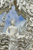 Wat Rong Khun buildings and Royalty Free Stock Photos