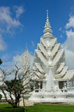 Wat Rong Khun buildings and Stock Images