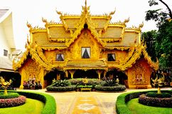 Wat Rong Khun - Chaingrai. The Chiang Rai earthquake on Monday has left a celebrated visual artist in despair after his exquisite temple sustained substantial Royalty Free Stock Photos