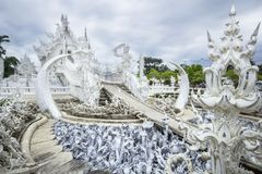 Wat Rong Khun,at Chiang Rai province Royalty Free Stock Photo
