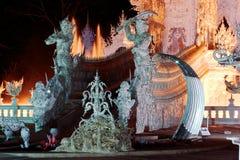 Wat Rong Khun, Chiang Rai, Tailandia immagini stock libere da diritti