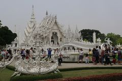 Wat Rong Khun in Chiang Rai, Thailand royalty-vrije stock afbeelding