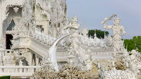 Wat Rong Khun ,Chiang rai, Thailand stock footage