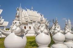 Wat Rong Khun, Chiang Rai White Temple images stock