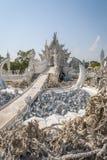 Wat Rong Khun, Chiang Rai White Temple, détail photographie stock libre de droits