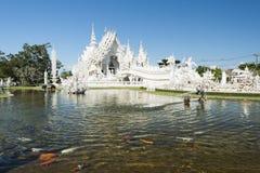 Wat rong khun at chiang rai. Wat rong khun or white temple locate at chiang rai northern of thailand stock photos