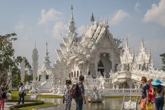 Wat Rong Khun, Chiang Rai White Temple photographie stock libre de droits