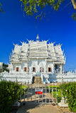 Wat Rong Khun in Chiangrai province, Thailand. The sign on the door said it's the exit: no entrance Stock Images