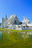 Wat Rong Khun in Chiangrai province, Thailand. Where is the place of worship Stock Photos
