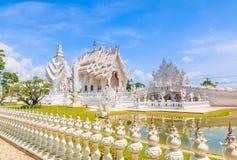 Wat Rong Khun in Chiangrai provincie, Thailand stock fotografie