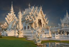 Wat Rong Khun, Chiangrai, Tailandia Imagen de archivo libre de regalías