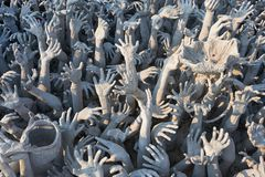 Wat Rong Khun,Chiangrai, Thailand. Beautiful ornate white temple located in Chiang Rai northern Thailand. Wat Rong Khun (White Temple), is a contemporary Stock Photos