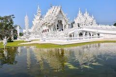 Wat Rong Khun, conhecido como o templo branco Imagens de Stock Royalty Free