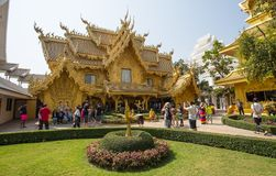 Wat Rong Khun, de Witte Tempel, Chiang Rai, Thailand royalty-vrije stock fotografie