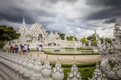 Wat Rong Khun, der weiße Tempel - Chiang Rai Thailand lizenzfreie stockfotografie