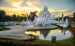 Wat Rong Khun after the earthquake Stock Photos