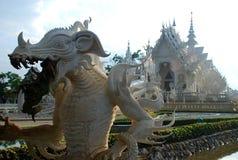 Wat Rong Khun eller vit tempel. Chiang Rai Thailand Royaltyfri Foto