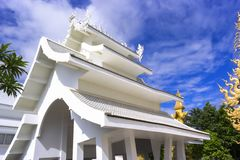Wat Rong Khun Facilities Royalty Free Stock Photo