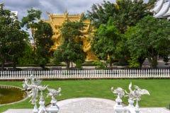 Wat Rong Khun, Garden View. Stock Photo