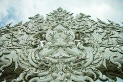 Wat Rong Khun, godsdienst en art. stock foto's