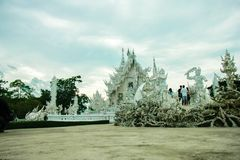 Wat Rong Khun, godsdienst en art. royalty-vrije stock afbeelding