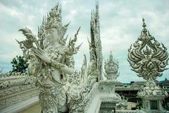 Wat Rong Khun, godsdienst en art. royalty-vrije stock fotografie