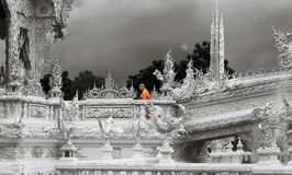 Wat Rong Khun, il tempio bianco - Chiang Rai Thailand Fotografia Stock Libera da Diritti
