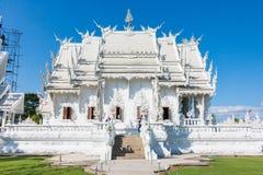 Wat Rong Khun The-kunst in de stijl van een Boeddhistische tempel in Chiang Rai, Thailand Royalty-vrije Stock Foto's
