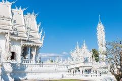 Wat Rong Khun The-kunst in de stijl van een Boeddhistische tempel in Chiang Rai, Thailand Stock Afbeelding