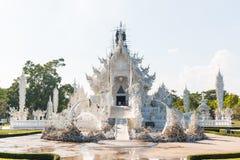 Wat Rong Khun The-kunst in de stijl van een Boeddhistische tempel in Chiang Rai, Thailand Royalty-vrije Stock Afbeeldingen