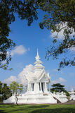 Wat Rong Khun. More well-known among foreigners as the White Temple, is a contemporary unconventional Buddhist temple in Chiang Rai, Thailand. It was designed Stock Photo